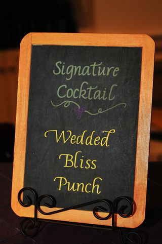 Cocktail chalkboard