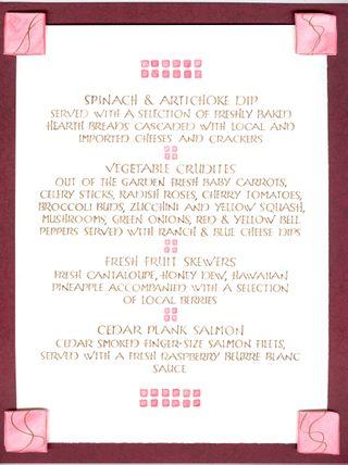 ISES March '09 menu