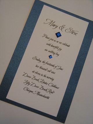 Mary & steve's invite