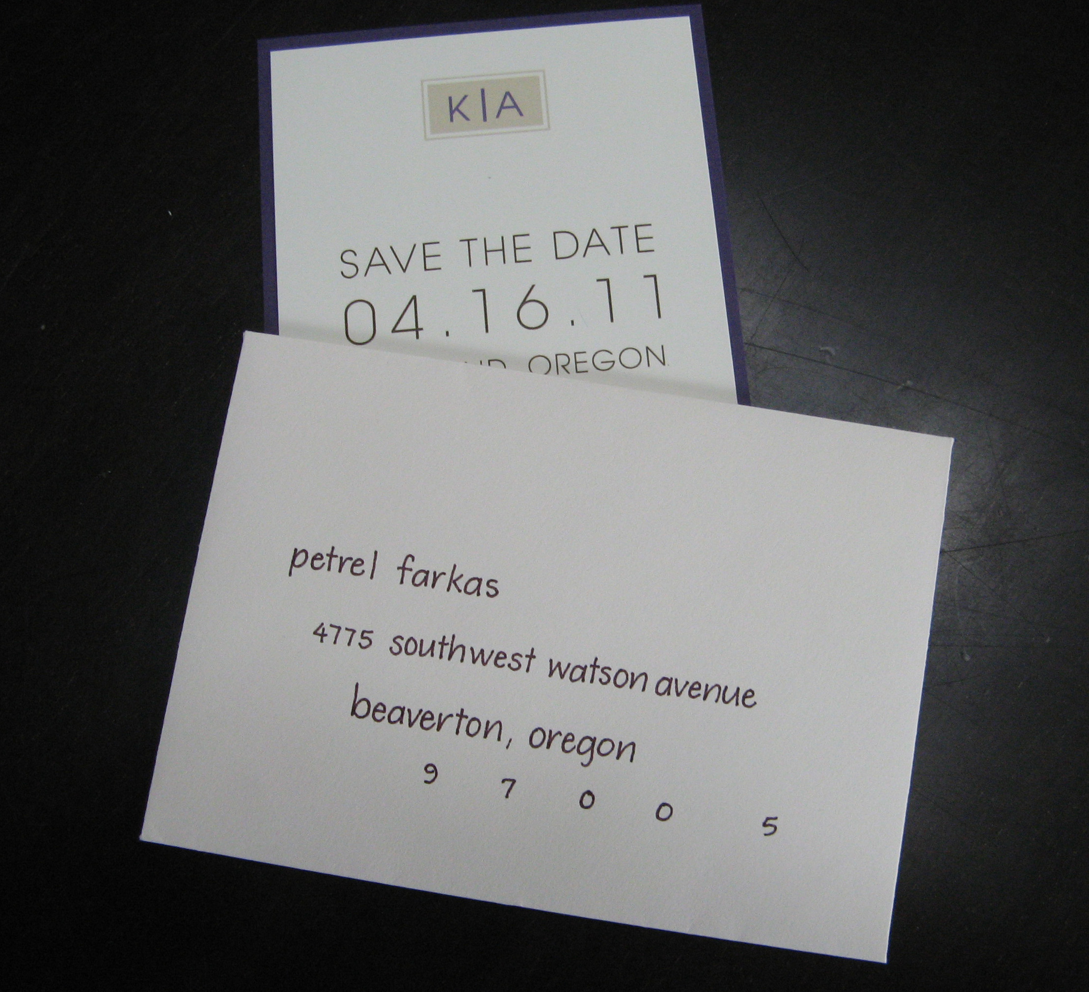 The Lettering On Invitations Was Upper Case We Decided To Do All Lower For Envelope Addressing In Brown Match Save Date Ink