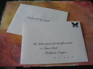 ALESIA ZORN CALLIGRAPHY ENGRAVING The Etiquette Of Inner Envelopes