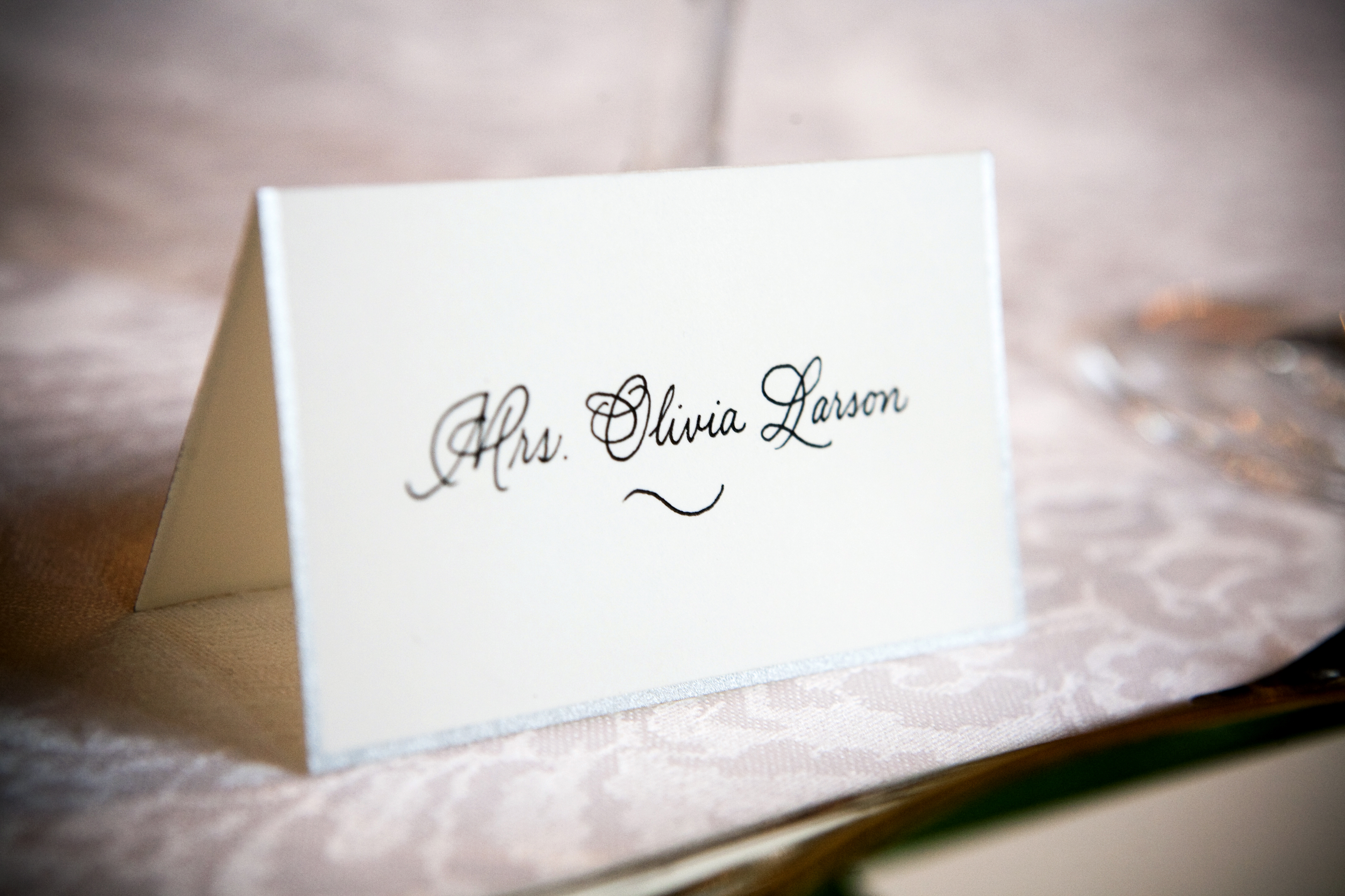Beautiful ALESIA ZORN CALLIGRAPHY & ENGRAVING: place cards SL53