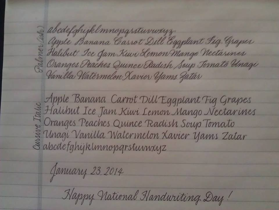 For My Regular Handwriting I Use 2 Different Styles The Top Sample Is Based On Palmer Method What Nuns Taught Me But Years Have Brought Some